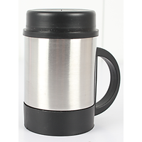 Metallic Coffee Mug With Lid 400 Ml