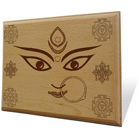 Jai Maa Kali Wooden Engraved Plaque