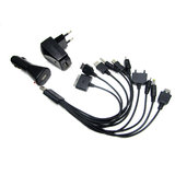 10 in1 Multi USB+Car+Travel Charger for Nokia, Samsung, iPod, Sony, lg, Motorola