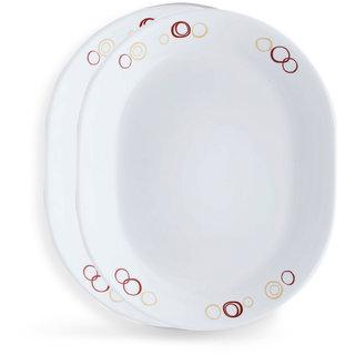 Corelle Livingware Circle 2 Pcs Oval Serving Platter