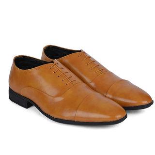 Ziraffe FAMOS Camel Leather Formal Shoes