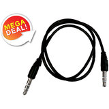 Set Of 2 3.5mm Audio Extension AUX Cable Male To Male For Car Stereo IPhone IPod