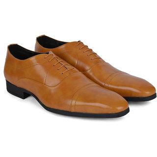 Ziraffe ELIXIR Camel Mens Leather Formal Shoes