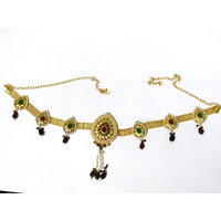 Golden Multiple Tilak Brooch Waist Belt