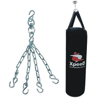 Xpeed Unfilled Carbonium Leather Punching Bag / Kick Boxing Bag with Chain (30 Inches)