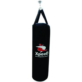 Combo of Punching Bag Filled 4 Feet with Heavy Duty Bracket Two pair of Boxing Gloves in Senior Junior sizes