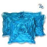 Floral Cushion Blue 30/30 Cm (set Of 5 Pcs)