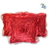 Floral Cushion Red 30/30 Cm(set Of 5 Pcs)