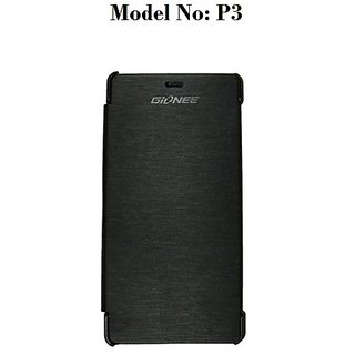 Premium Quality Flip/Book Cover For Gionee Pioneer P3 (Black) available at ShopClues for Rs.227