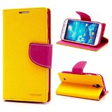 Mercury Flip, Flap, Dairy Wallet Cover Case For Sony Xperia ZR M36h-Yellow