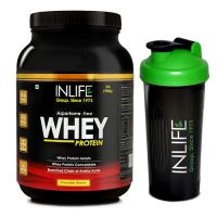 INLIFE Whey Protein Powder 2 Lbs  (Chocolate Flavour) With Free Shaker