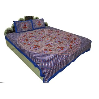 Designer Exclusive 3 Pcs. Floral Print King Size Double Bed SheetSRA2385