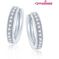 Meenaz Rhodium Plated  Silver Studs For Women