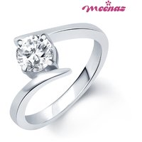 Meenaz Silver Plated Cubic Zirconia (Cz) Silver Rings For-Women