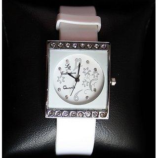 LR Beautiful White Watch For Beautiful You
