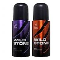 Wild Stone Set Of 2 (Juice & Night Rider) Men Deodorant