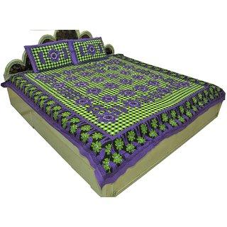 Designer Exclusive 3Pcs. Ethinic Floral Print King Size Double Bed Sheet SRA2417