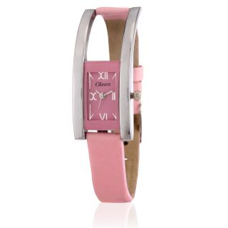 Oleva Ladies Leather Watch With Genuine Leather Strap OLW6P