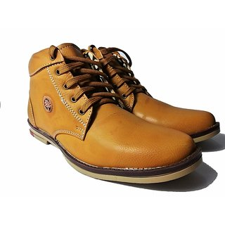 STYLE-ONN TEEK BROWN HIGH ANKLE SHOES
