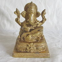 Lord Ganesha Brass Statue,Religious God Idol For Pooja,Statue For Temple Puja