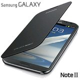 Flip Case Cover For Samsung Galaxy Note2 N7100(Black)