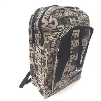 Simple  Attractive Multi Pockets Black Canvas 29 Ltrs Denim Backpack