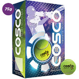 COSCO CRICKET TENNIS BALLS LIGHT WEIGHT YELLOW PACK OF 6 PCS BALLS