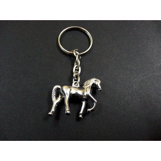 Brand New Horse Style Stainless Steel Keychain Chain Bike Car Key Ring