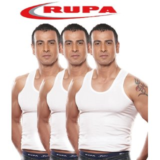 Rupa Men's Red Vests (Set of 3)