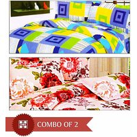 Simply Home's Set Of 2 Double BedSheet With Pillow Covers
