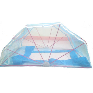 Mosquito net 6x6 Double bed Blue