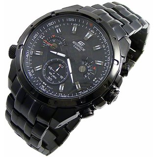 CASIO EDIFICE EF535BK-1A STYLISH QUARTZ CHRONOGRAPH MENS WATCH BLACK DIAL