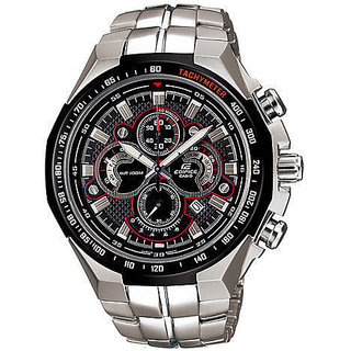 CASIO EDIFICE E-554D-1A BLACK DIAL WRIST CHRONOGRAPH MENS WATCH