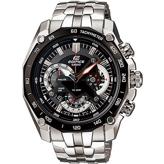 Casio Edifice EF-550D-1AV - 100% Authentic - Black N Silver
