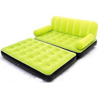 Green 5 In 1 Velvet Sofa Inflatable Bestway Air Bed In