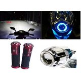 Projector Head Light/Head Lamp For Activa/Aviator/Dio Projector Light +FANCY STYLISH GRIP FROM 2014REASONABLE