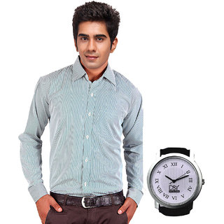 D&Y Exclusive Combo Of Formal Shirt And D&Y Analog Watch(116)