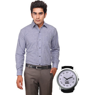D&Y Exclusive Combo Of Formal Shirt And D&Y Analog Watch(143)