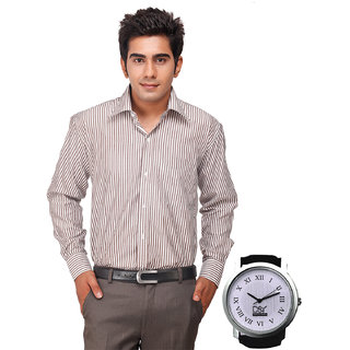D&Y Exclusive Combo Of Formal Shirt And D&Y Analog Watch(119)