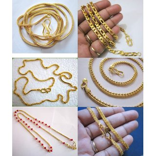 Set Of 6 One Gram Gold Chain For Both Men & Women Gorgeous Looking