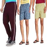 Swank Set Of 3 One Track Pant Two Boxer Shorts Skc 0780