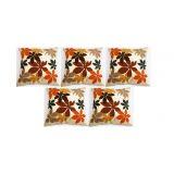 Felt Flower Patch Cushion Cover Beige 30/30 Cm(5 Pcs Set)