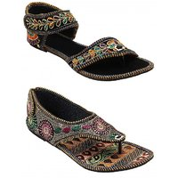 Forever Footwear Girls Multicolor Flats Combo ]F168F169