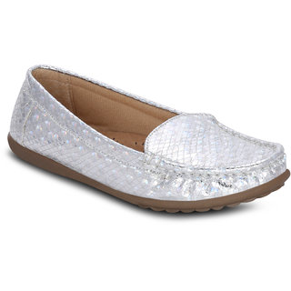 Kielz Girls Silver Slip on Casual Shoes ]KP-6-SILVER