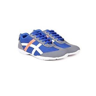 TEN Blue Fabric Casuals Shoes TENSSHOCRSBLU02 ]TENSSHOCRSBLU02