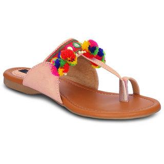 Kielz Girls Pink Slip on Flats ]KP-13-PINK