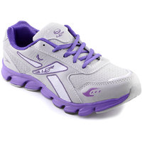 Lancer Girls's Gray & Purple Lace-up Running Shoes ]FINLANDGRY-PPL
