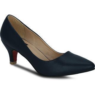Kielz Girls Blue Slip on Heels ]F-2617-BLUE