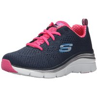 Skechers Girls's Fashion Fit Navy and Hot Pink Sport Shoes ]12704-NVHP