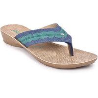 Action Shoes Florina Girls's BlueGreen Flats ]PL-3834-BLUE-GREEN